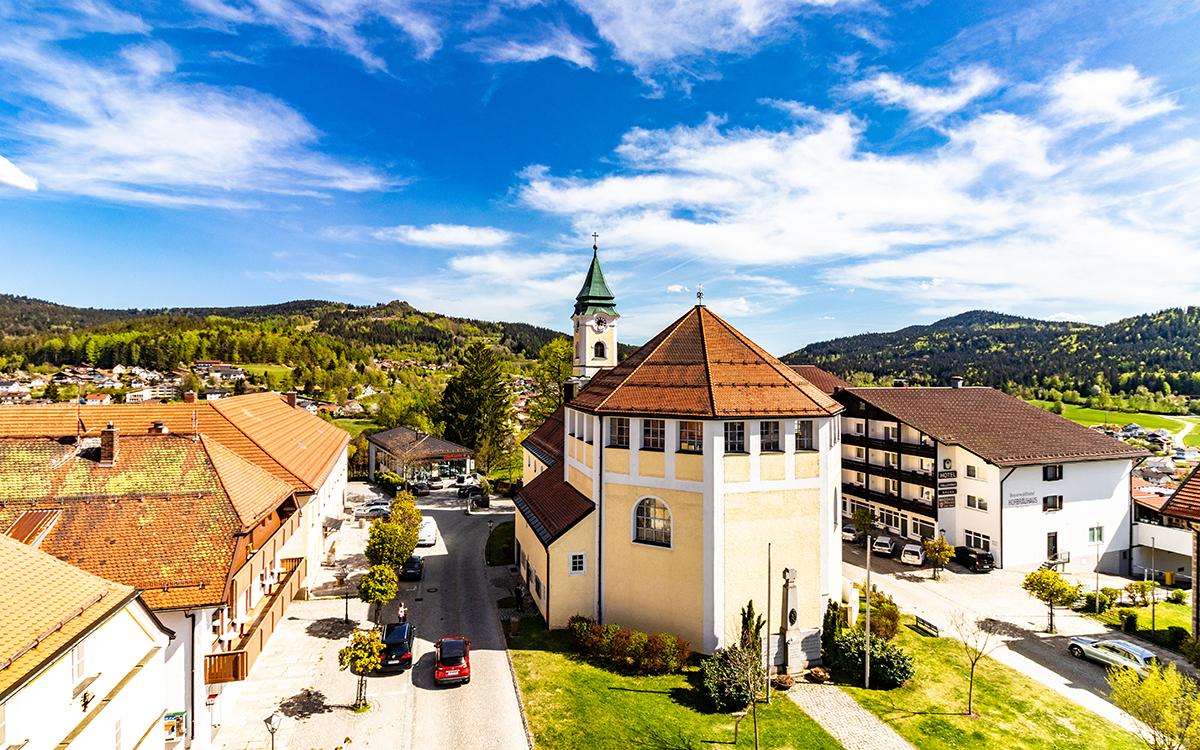 Orstansicht Bodenmais Wellnesshotel Bayerischer Wald