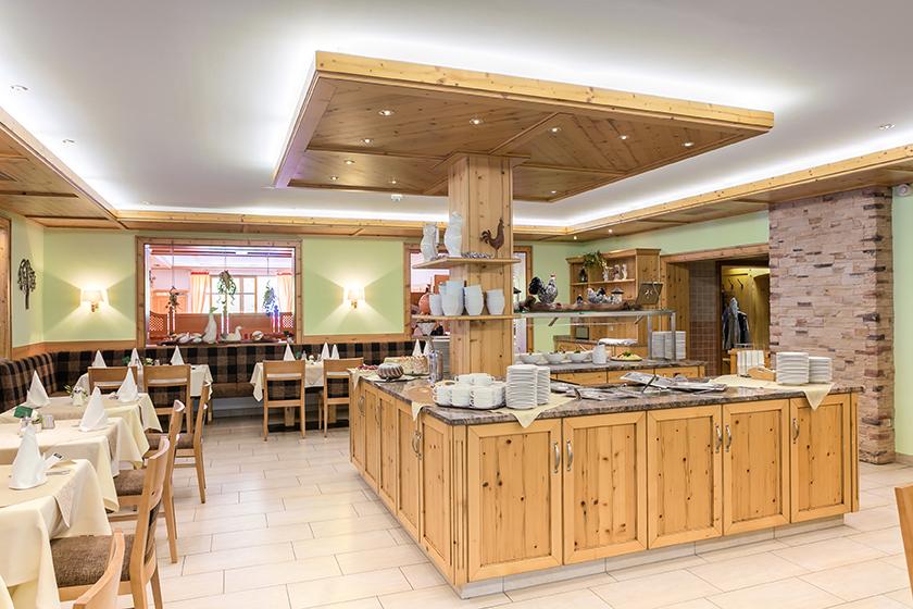 Buffetbereich Wellnesshotel Bayerischer Wald