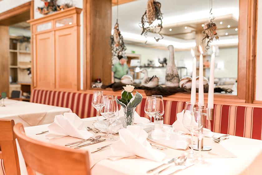 Restaurantbereich Wellnesshotel Bayerischer Wald
