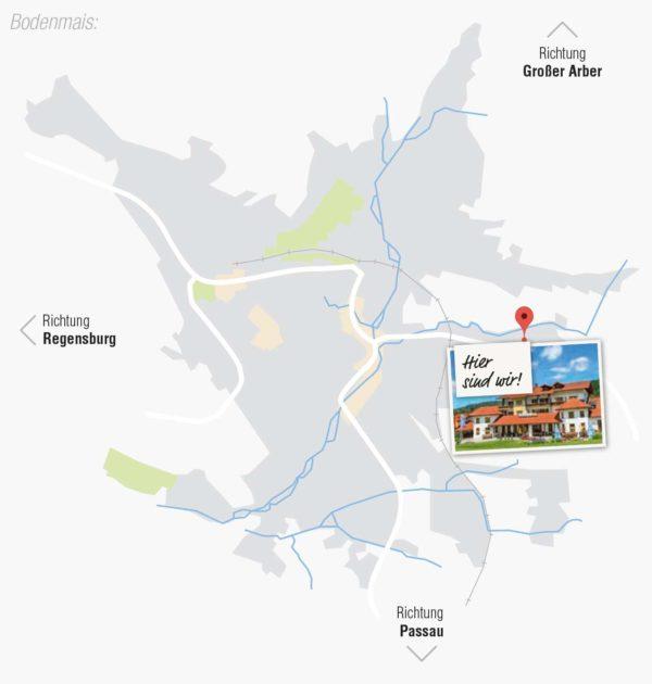 Routenplaner Wellnesshotel Bayerischer Wald