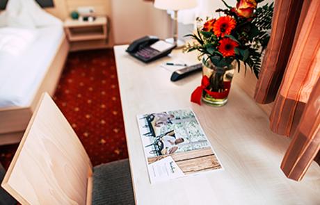 Zimmerdetail Wellnesshotel Bayerischer Wald